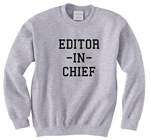 FASHIONISGREAT Editor In Chief Blog Womens Girls Crewneck...