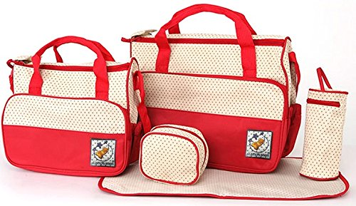 1 opinioni per 5PCS bambino fasciatoio bag set borsa fasciatoio multifunzionale mummia borsa a