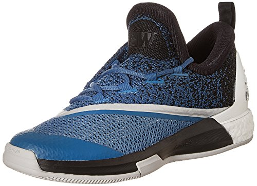 adidas Crazylight Boost 2.5 Low, Scarpe da Basket Uomo Blu / Nero / Bianco (Azucap / Negbas / Ftwbla)