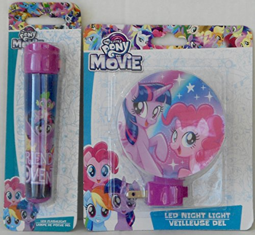 (My Little Pony The Movie LED Night Light and Flashlight Bundle)