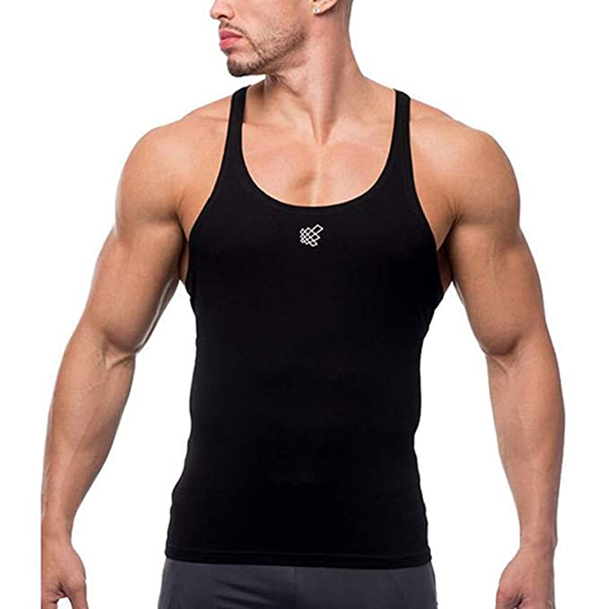 b27ca701 Letdown_Men tops Slim fit Tank top for Men Sleeveless Bodybuilding Sport  Muscle Fitness Workout Dry Fit