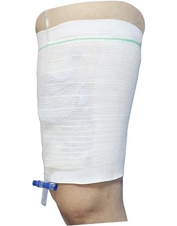 Soporte para bolsa y catéter de drenaje de orina para la pierna. Forma de cómoda