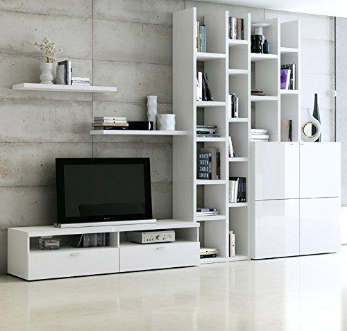 Wohnzimmer Wohnwand Hochglanz Wei Fernsehschrank Lowboard Cd Regal