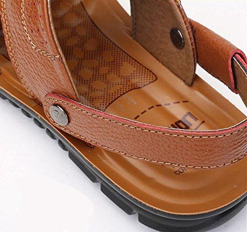 taglia Bebete5858 da 46 pantofole Cachi Sandali spiaggia 47 45 casual uomo scarpe open uomo nere da freddi grandi dimensioni toe scarpe sandali estivi da aaqr6OwPA