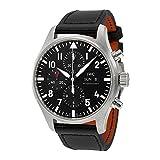 IWC Pilot Black Automatic Chronograph Mens Watch IW377709