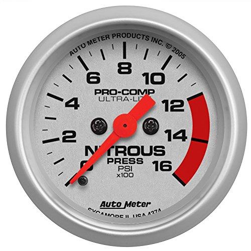 Auto Meter 4374 Ultra-Lite Electric Nitrous Pressure Gauge