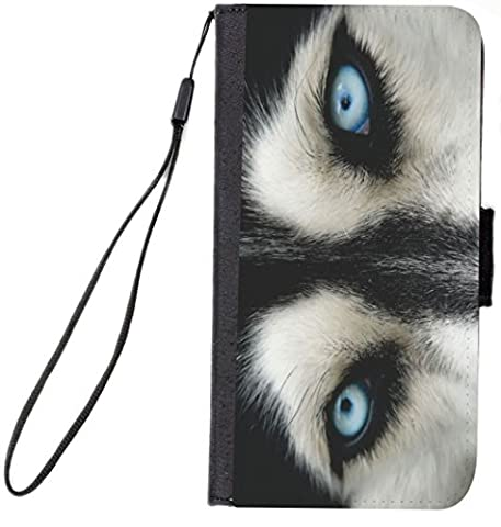 UKBK Wolf Close Up Design Galaxy S7 Edge PU Leather Wallet Flip Case with Kickstand and Magnetic Flap (for Samsung Galaxy S7 Edge (Teen Wolf Kindle Case)