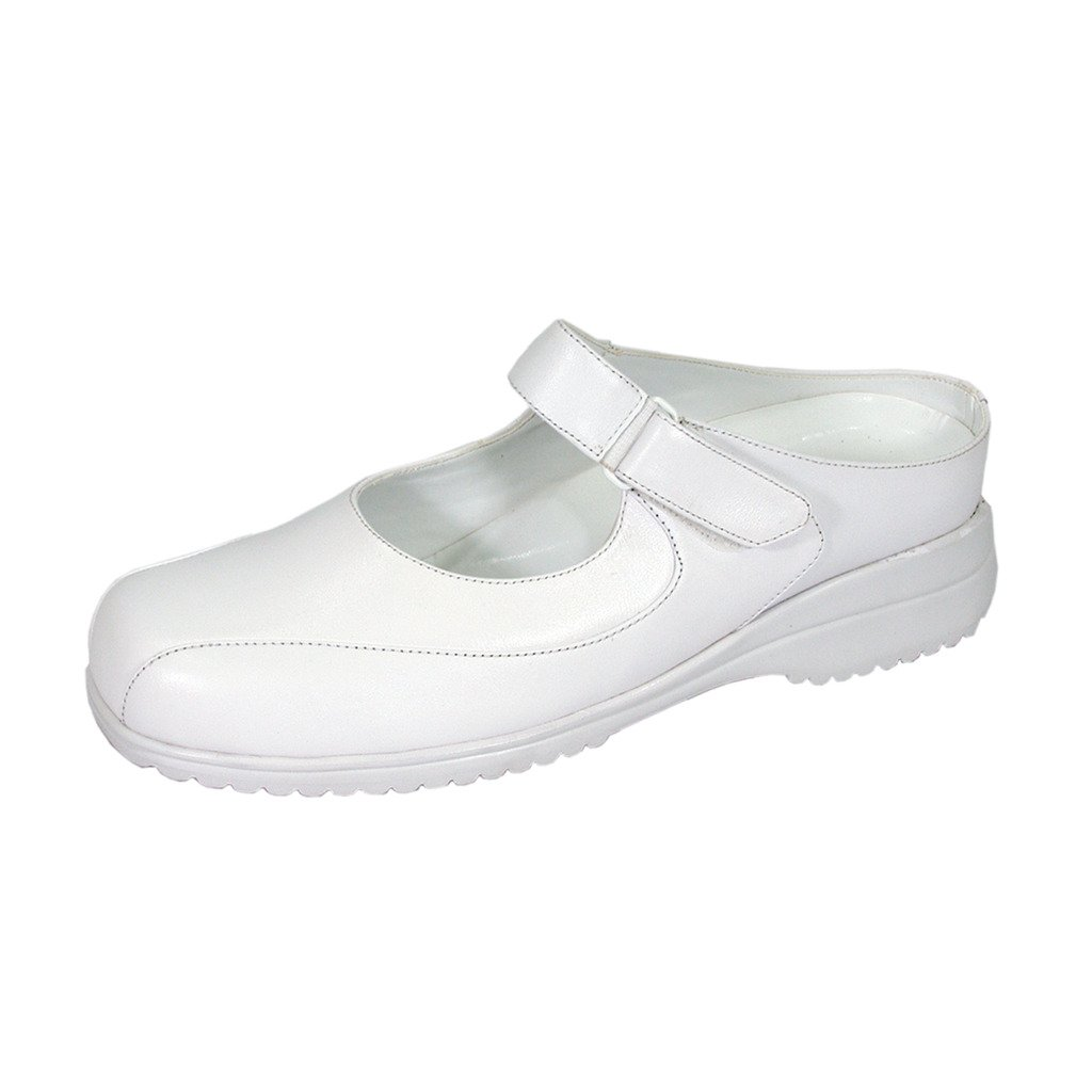24 Hour Comfort  Dolores (1893) Women Extra Wide Width Mary Janes White 11