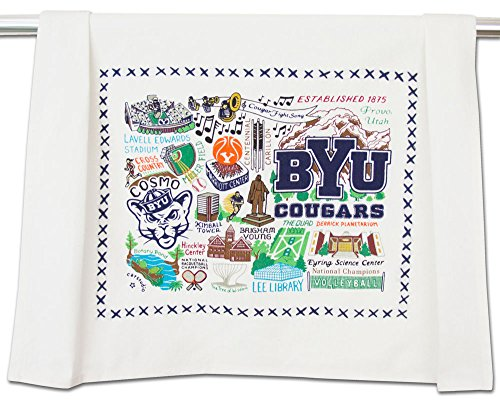 BRIGHAM YOUNG UNIVERSITY (BYU) COLLEGIATE DISH TOWEL - CATSTUDIO (Brigham Young University Fabric)