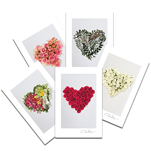 Love - Flower Heart Postcard Prints. Fathers Day. 4x6, 2 Each of 5. Heart Series. Unique Birthday, Christmas & Valentines Day Gifts. Best Quality Gifts for Men, Women & Kids. Great for Mother