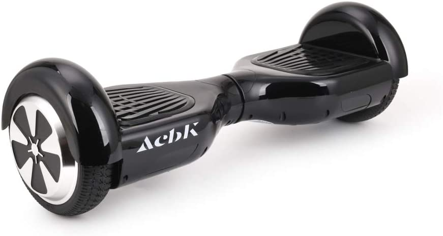 Negro Velocidad m/áxima: 10-12 km//h Autonom/ía 10-20 km Luces Led integradas Patinete El/éctrico Hover Autoequilibrio con Ruedas de 6.5 ACBK