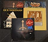 lot of 5 rick wakeman lps myths and legends, six wives of henry viii, journey to the center of the earth, white rock,