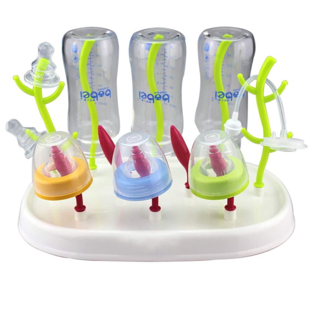 1PC Estante de sequ/ía del biber/ón de la forma del /árbol o secador de la secadora de la limpieza de la botella de alimentaci/ón infantil color como imagen mostrada