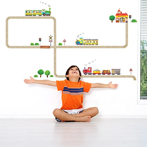 Decowall DW 1504 Trains Nursery stickers product image