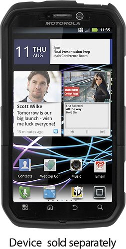 Platinum Series Holster Case for Motorola Photon 4G Mobile Phones - Black