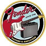 Fender Round Guitars & Amplifier Tin Sign