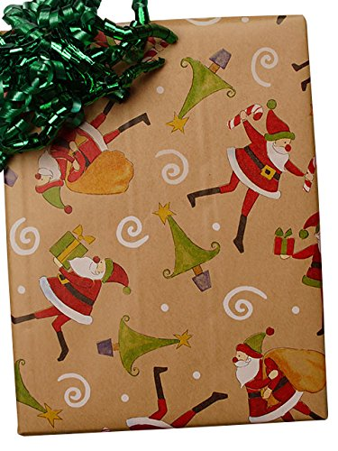 24'' X100' #x6329 The Night Before Christmas/Krft Gift Wra by Paper Mart