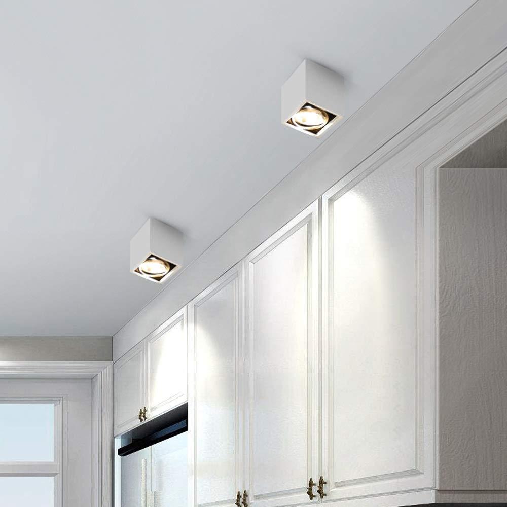 Verlight Modern Square 7W//10W Led Anti-Glare Surface Mounted Ceiling Spotlights 60/° Beam Angle Adjustable Downlights Aisle Bedroom Home Villa Hotel Lighting Panel Lamp