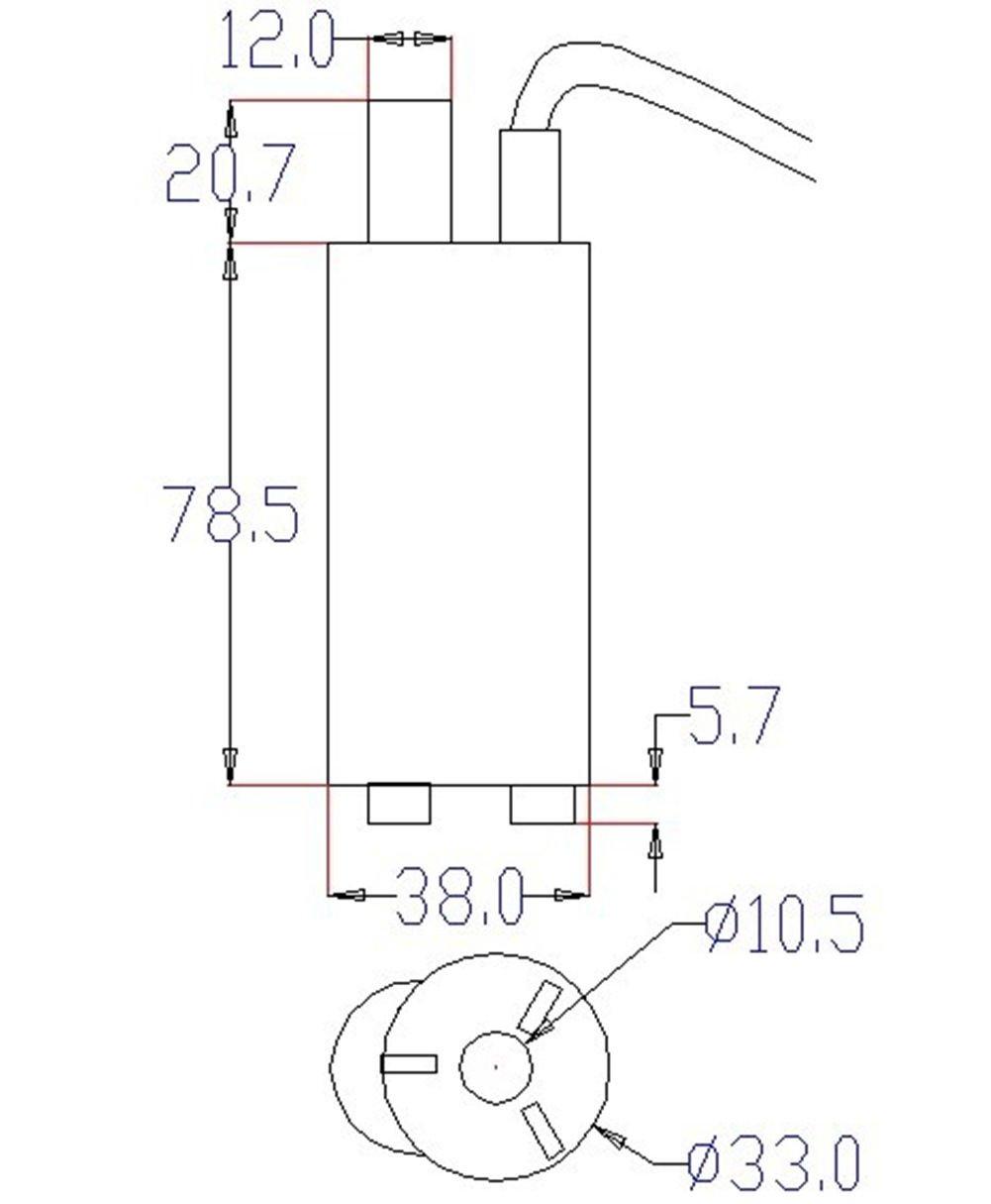 Mini Water Pump, Northbear 12V DC 1.2A Micro Submersible Motor Water Pump 5M 14L/Min 840L/H 6-15V