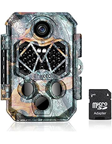 ENKEEO Cámara de Caza 20MP, 1080P Trailcam, Tarjeta SD 32GB incluida, 45pcs IR