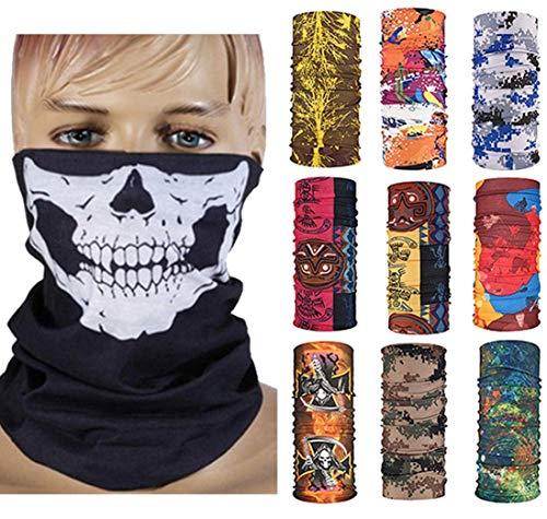 HCMY Multifunctional Magic Scarf Outdoor Headwear Bandana Sports Tube UV Face Mask for Workout Yoga 9pcs