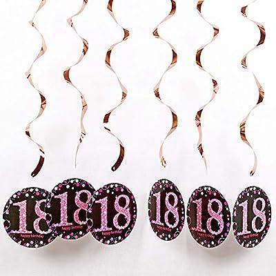 24 Piezas 18 Cumpleaños Adorno Espiral, Decoraciones ...