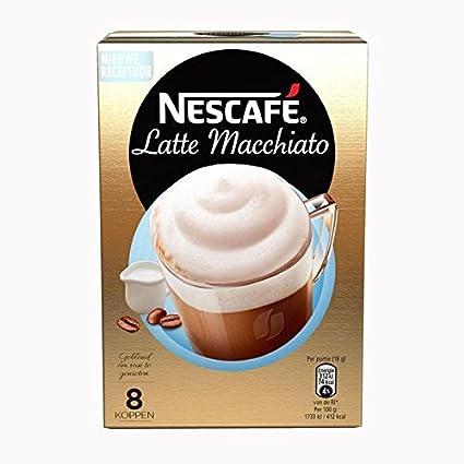 Nescafe | Café instantáneo | Latte Hazelnut | 8 palos por paquete 136gr/4.80oz: Amazon.es: Alimentación y bebidas