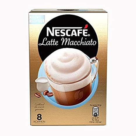 Nescafe | Café instantáneo | Cappuccino Decaf | 10 palos por paquete 125gr/4.41oz: Amazon.es: Alimentación y bebidas