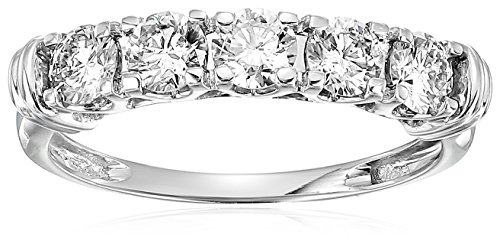 Cut 5 Stone Diamond Band - 1 CT AGS Certified I1-I2 5 Stone Diamond Ring 14K White Gold in Size 6