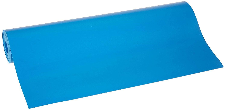 Bertech ESDビニールマットロール、ブルー 2.5' Wide x 10' Long x 0.093