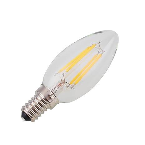 Regulable E12 E14 Bombilla LED Retro Edison COB Filamento Vela Lámpara 110V 220V Para uso en