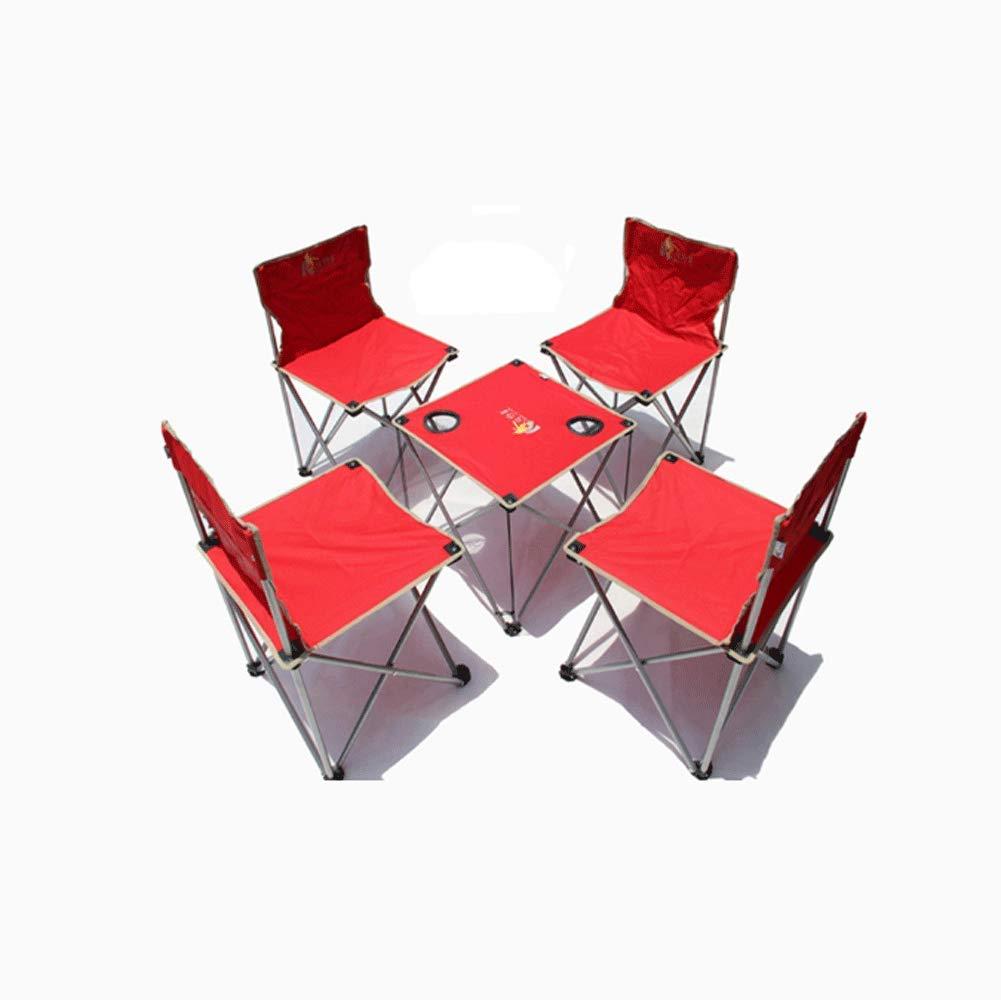 KAI LE Im Freien großer tragbarer Klapptisch und Stuhl-Freizeit selbstfahrender Stuhl fünfteilig