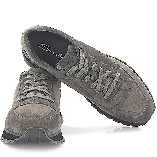 Santoni Sneaker 20507 Grigio Scamosciato