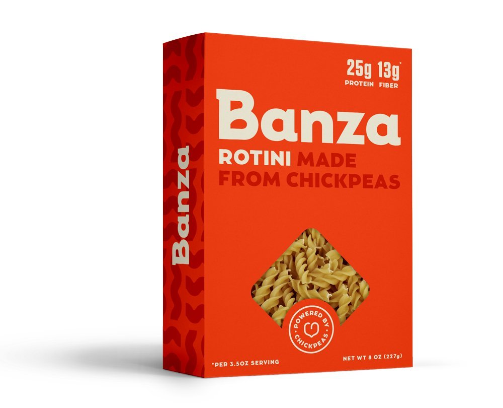 Banza Chickpea Pasta - High Protein Gluten Free Healthy Pasta - Variety Case (Shells, Elbows, Penne, Rotini) (Pack of 6) by BANZA