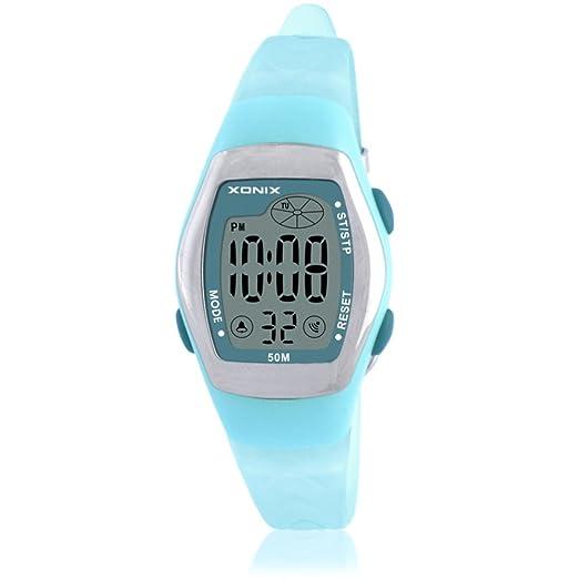Niños reloj led digital multifunción impermeable natación chica estudiante reloj digital-B: Amazon.es: Relojes