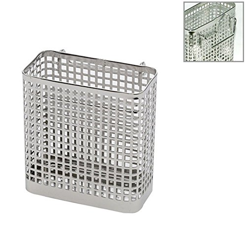 Kitchen Utensils Drying Rack Stainless Steel Square Spoon Knife Fork Case Sink Basket Rack Organizer Storage Stand Holder (Stainless Steel Utensil Drying Rack)
