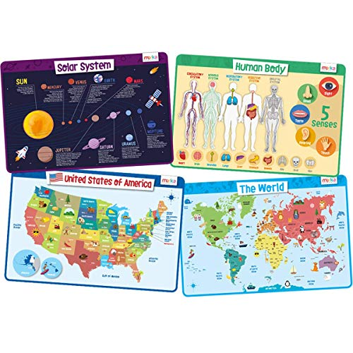 merka Kids Placemats Educational