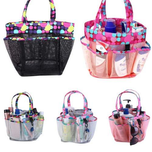 OPL Mart Shower Caddy Tote 8 Pockets Mesh Wash Bag Hangable