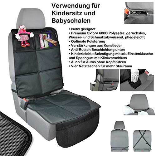 Dreierpack Babies1st Sitzschoner Auto Kindersitz Schutzunterlage 3 In 1 Schutz Kindersitzunterlage Isofix Unterlage Für Sitzerhöhung Und Rückenlehnenschutz Baby
