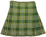 American Highlander Men's Irish National Tartan Kilt 48 Waist Green/Gold/White/Black