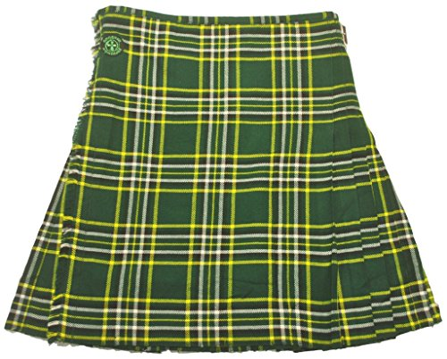 American Highlander Men's Irish National Tartan Kilt 42 Waist Green/Gold/White/Black by American Highlander