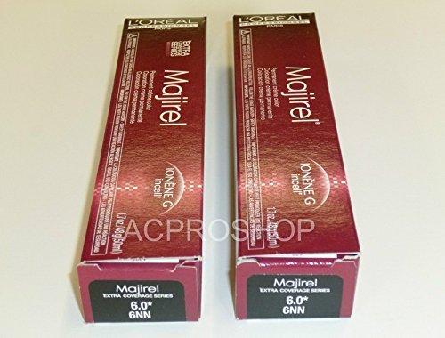 2 X Loreal Professional Majirel Hair Color Level # 6.0 / 6nn
