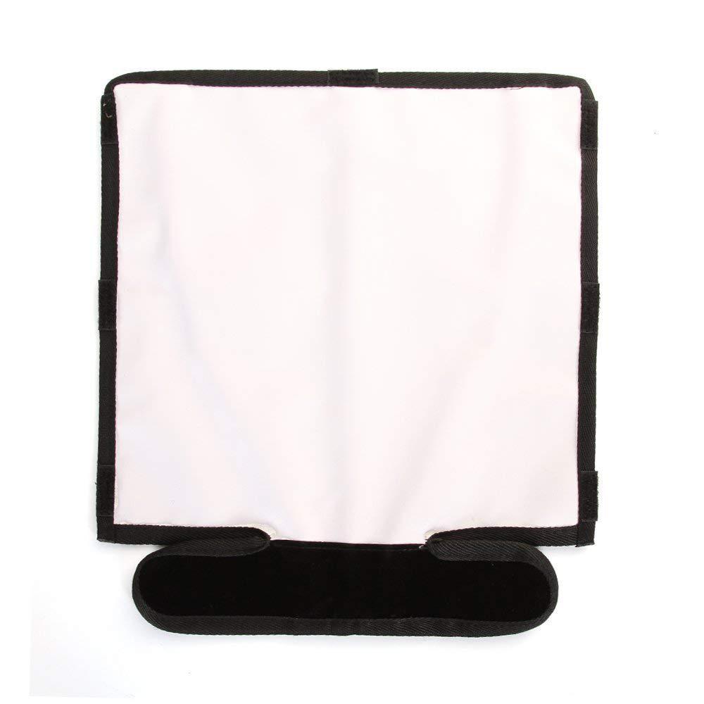 TOPTOO Riflettore pieghevole flash riflettore Snoot Softbox Speedlight argento//bianco per DSLR Reflect Light Panel Bender