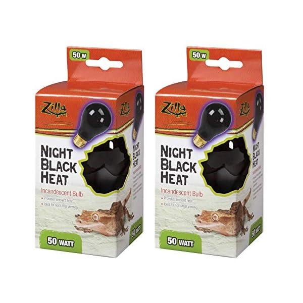 Zilla Night Black Heat Incandescent Bulb for Reptiles [Set of 2] Watt: 50 Watts 1