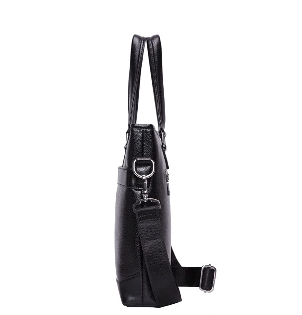 Mens PU Leather Messenger Bag Shoulder Bag Tote For Business Casual Briefcase Computer Bag Upgraded Version