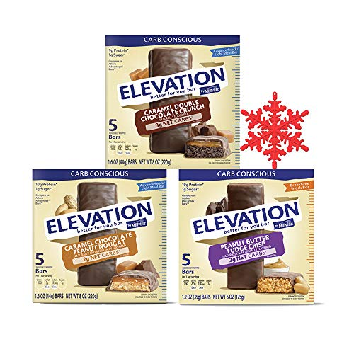 Millville Elevation Protein Bars Snack Bundle, 3 Variety Flavors in One Pack, Chocolate Energy Protein Bars, Chewy Choco Energy Snack Bars for Carb ()
