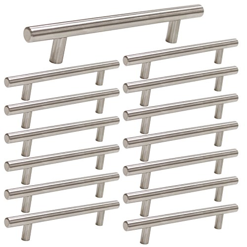 homdiy 5in Center to Center Cabinet Pulls Brushed Nickel 15 Pack Metal Cabinet Handles - HD201SN Cabinet Door Hardware Pulls Modern Drawer Pulls Brushed Nickel Drawer Handles for Dresser, - 5 Pull Inch Drawer