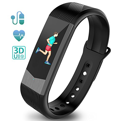 Ironpeas Fitness Tracker Heart Rate Monitor Activity Tracker Fitness Watch Pedometer Sleep Monitor Smart Bracelet Waterproof 3D UI Color Display with GPS, Blood Pressure Monitor for Kids Women Men by by Ironpeas