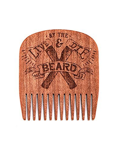 Big Red Beard Combs - Special Edition Handcrafted No. 5 Beard Comb (Available in 4 Designs) (Live & Die by the Beard)