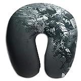 Owen Pullman Travel Pillow Hip Hop Dance Music Memory Foam Neck Pillow Comfortable U Shaped Neck Support Plane Pillow